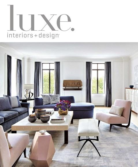Luxe Interiors & Design Cover - 9/1/2018