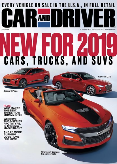 Car And Driver Cover - 9/1/2018
