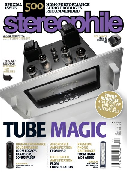 Stereophile Cover - 10/1/2018