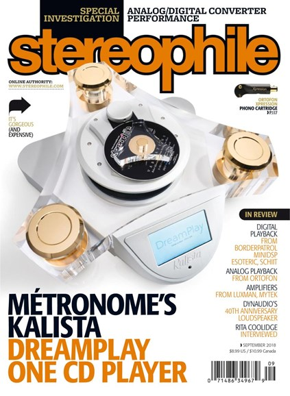 Stereophile Cover - 9/1/2018