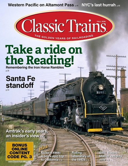 Classic Trains Cover - 9/1/2018
