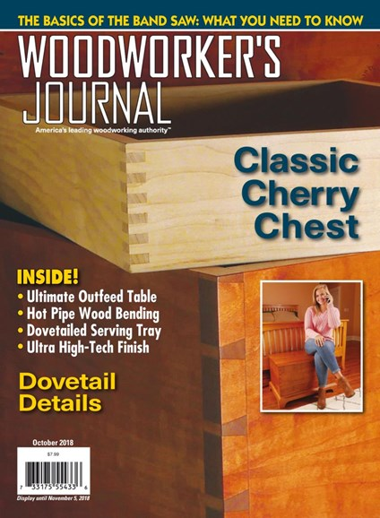 Woodworker's Journal Cover - 10/1/2018
