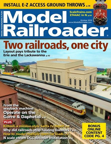 Model Railroader Cover - 10/1/2018