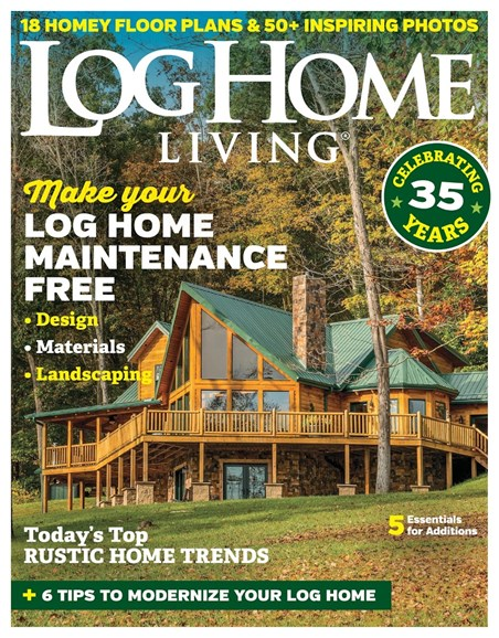 Log Home Living Cover - 9/1/2018