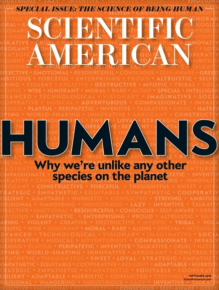 Scientific American Cover - 9/1/2018