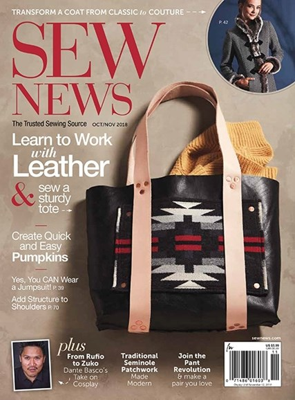 Sew News Cover - 10/1/2018