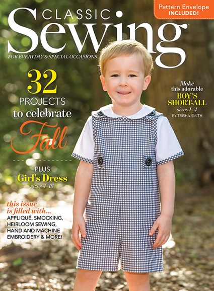 Classic Sewing Cover - 9/1/2018