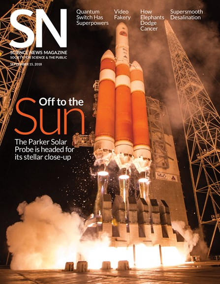 Science News Cover - 9/15/2018