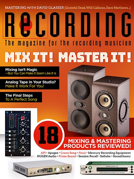 Recording Magazine Cover - 9/1/2018