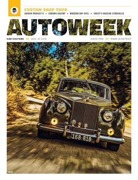 Autoweek Cover - 8/27/2018
