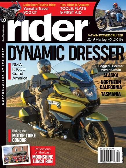 Rider Cover - 10/1/2018