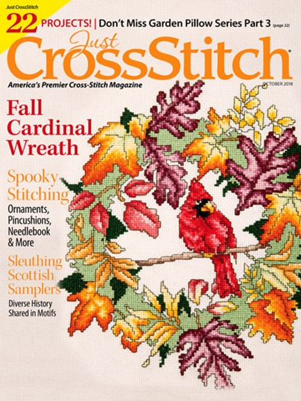 Just CrossStitch Cover - 10/1/2018