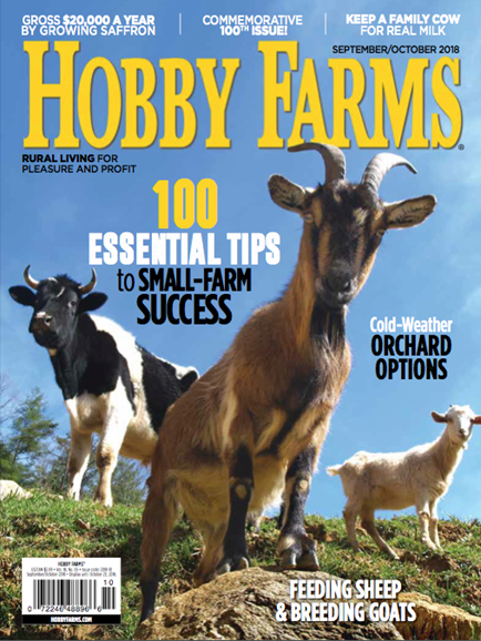 Hobby Farms Cover - 9/1/2018