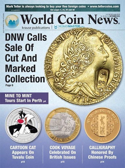 World Coin News Cover - 9/1/2018