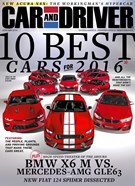 Car And Driver Magazine 1/1/2016