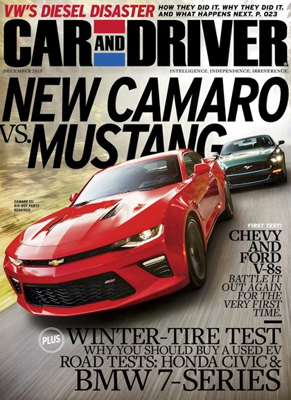Car And Driver Cover - 12/1/2015