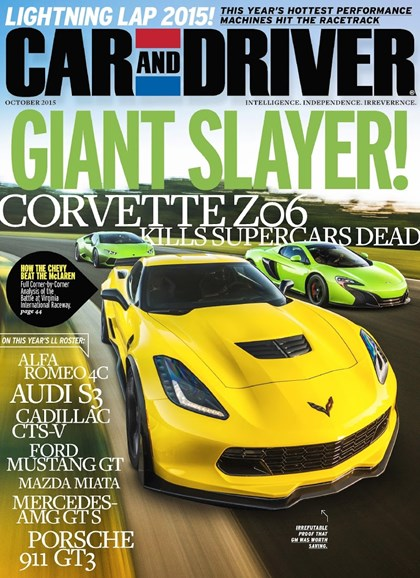 Car And Driver Cover - 10/1/2015