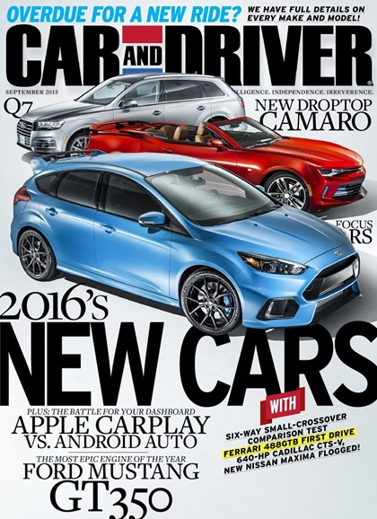 Car And Driver Cover - 9/1/2015