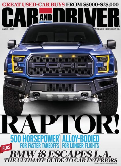 Car And Driver Cover - 3/1/2015