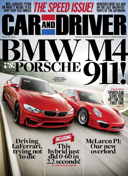 Car And Driver Cover - 8/1/2014