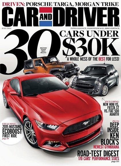 Car And Driver Cover - 7/1/2014