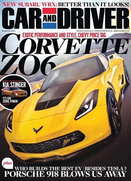 Car And Driver Cover - 3/1/2014
