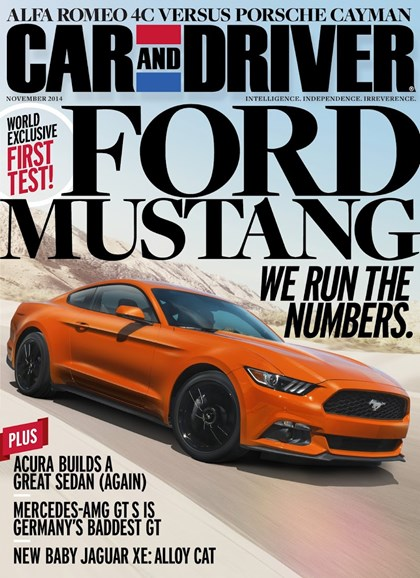 Car And Driver Cover - 11/1/2014
