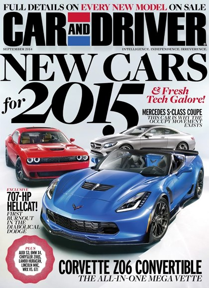 Car And Driver Cover - 9/1/2014