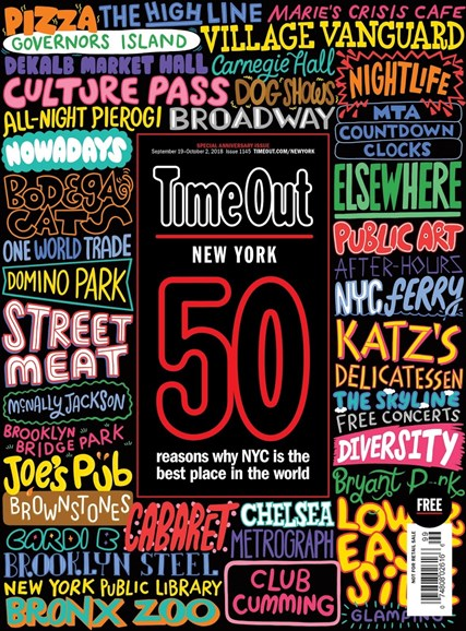 Time Out New York Cover - 9/19/2018