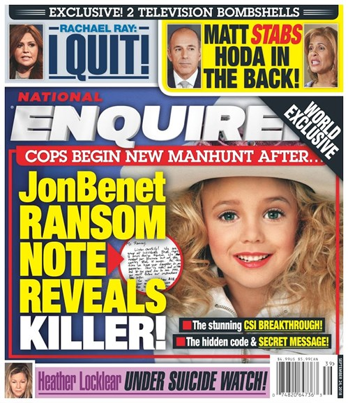National Enquirer Cover - 9/24/2018
