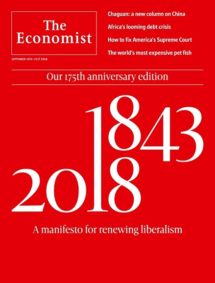 The Economist Cover - 9/15/2018