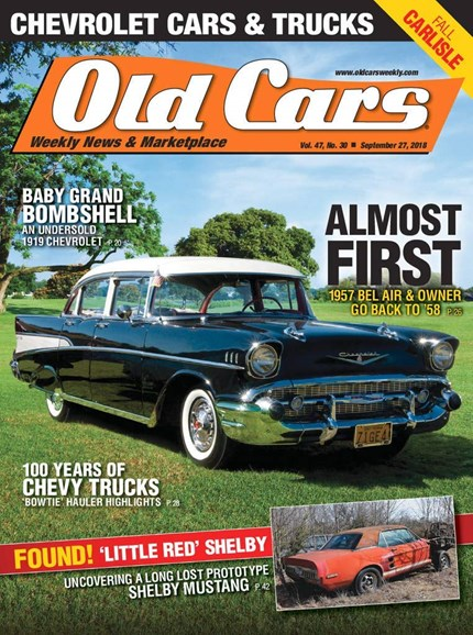 Old Cars Cover - 9/27/2018