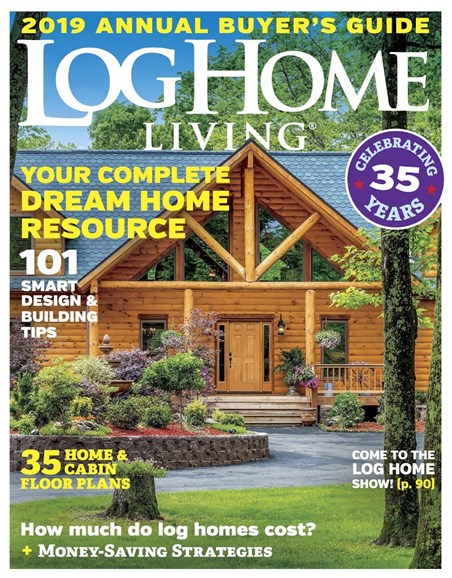 Log and Timber Home Living Cover - 10/1/2018