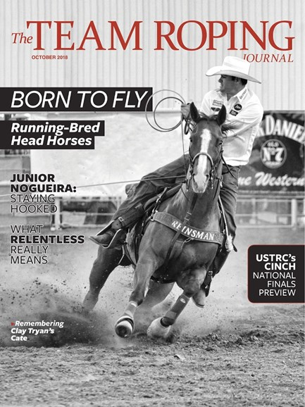 The Team Roping Journal Cover - 10/1/2018