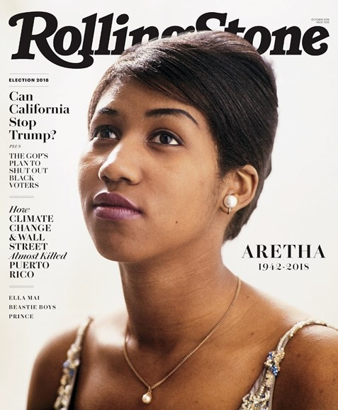 Rolling Stone Cover - 10/1/2018