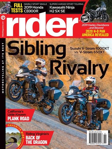 Rider Cover - 11/1/2018