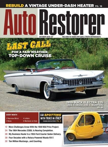 Auto Restorer Cover - 10/1/2018