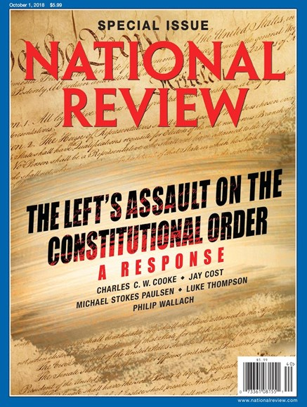 National Review Cover - 10/1/2018