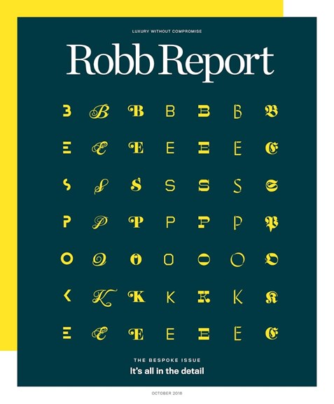 Robb Report Cover - 10/1/2018