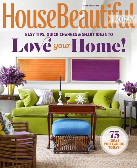 House Beautiful Cover - 2/1/2016