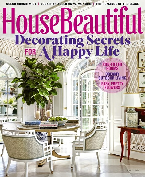 House Beautiful Cover - 4/1/2015