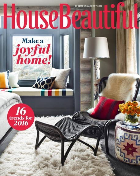 House Beautiful Cover - 12/1/2015
