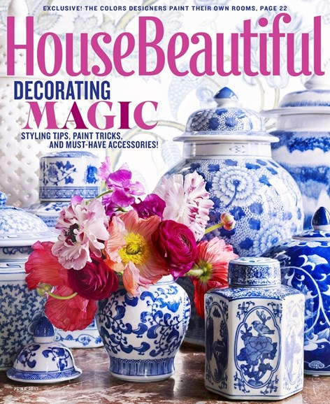House Beautiful Cover - 6/1/2015
