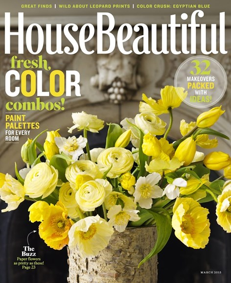 House Beautiful Cover - 3/1/2015