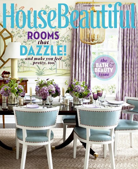 House Beautiful Cover - 11/1/2015