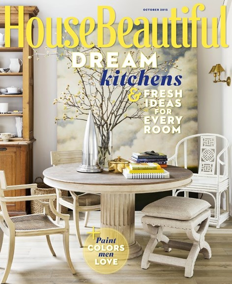 House Beautiful Cover - 10/1/2015