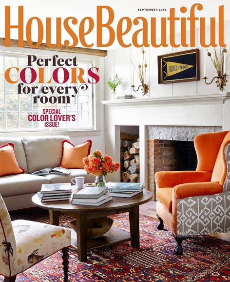 House Beautiful Cover - 9/1/2015