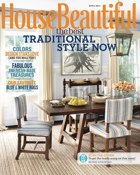 House Beautiful Cover - 4/1/2013