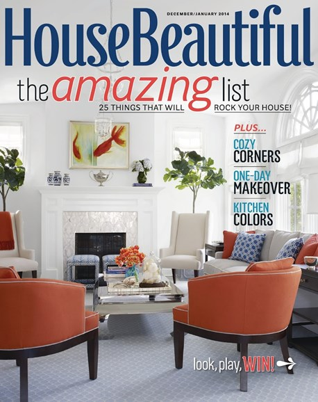House Beautiful Cover - 12/1/2013