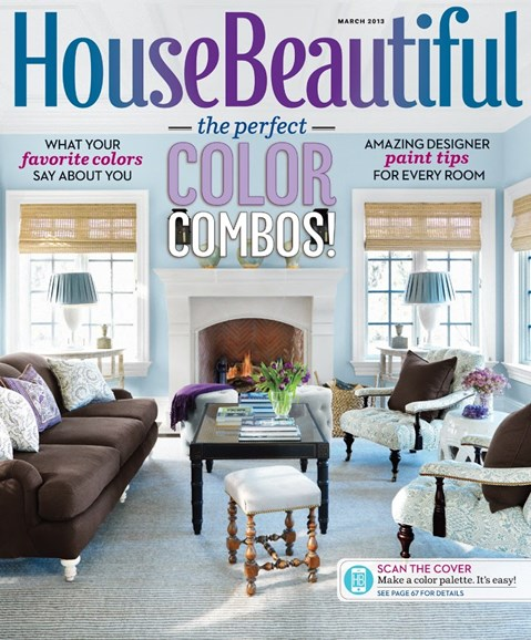 House Beautiful Cover - 3/1/2013